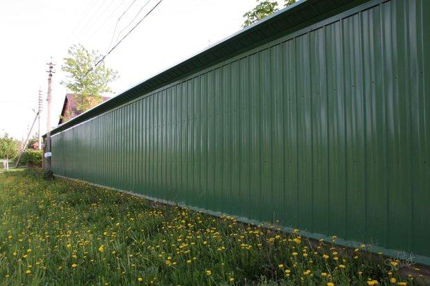 забор из профлиста Рязань